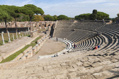 ostia antica and ancient roman ruins